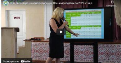 Звіт директора школи Броварської Олени Аркадіївни за 2020-21 н.р.